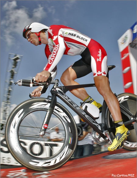 Svein Tuft at the start of the 2008 World Individual Time Trial ...