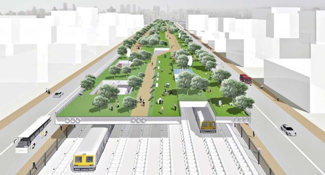 The Bombay Greenway Project by Abraham John Architects, 2013.