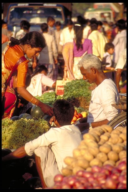 Vegetable vendors outside Borivili Station, Mumbai, India.                                                                                          Photo by Mark Mauchline